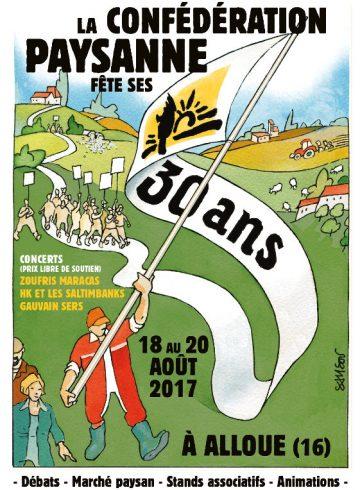Affiche des 30 ans de la confédération paysanne